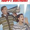 Birthday funky quirky unusual modern cool card cards greetings greeting original classic wacky contemporary art illustration fun funny vintage retro kiss-me-kwik twatface birthday