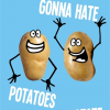 Birthday funky quirky unusual modern cool card cards greetings greeting original classic wacky contemporary art illustration fun funny vintage retro kiss-me-kwik potatoes haters potato hate