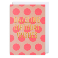 Lagom dazzling birthday wishes postco spots gold funky quirky unusual modern cool card cards greetings greeting original classic wacky contemporary art illustration fun