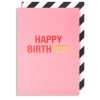 Lagom birthday pink happy birthyay funky quirky unusual modern cool card cards greetings greeting original classic wacky contemporary art illustration fun