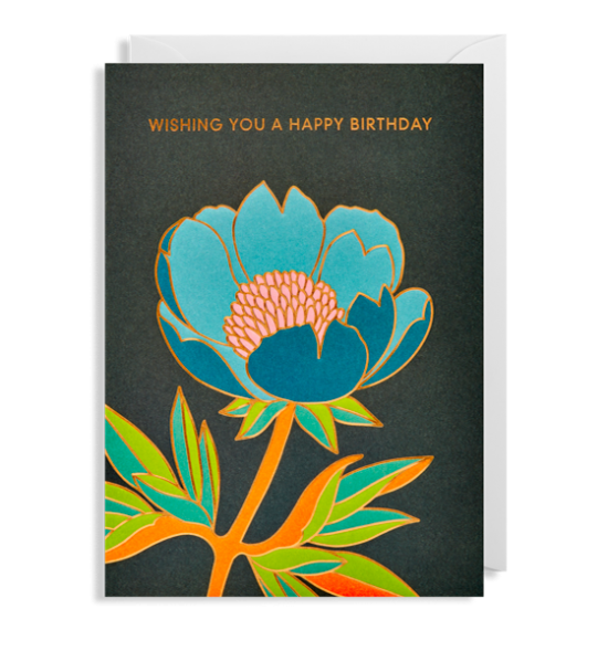 Lagom flower birthday hanna-werning funky quirky unusual modern cool card cards greetings greeting original classic wacky contemporary art illustration fun