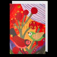 birds happy birthday postco funky quirky unusual modern cool card cards greetings greeting original classic wacky contemporary art illustration fun Lagom