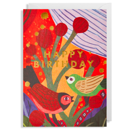 birds happy birthday postco funky quirky unusual modern cool card cards greetings greeting original classic wacky contemporary art illustration fun Lagom