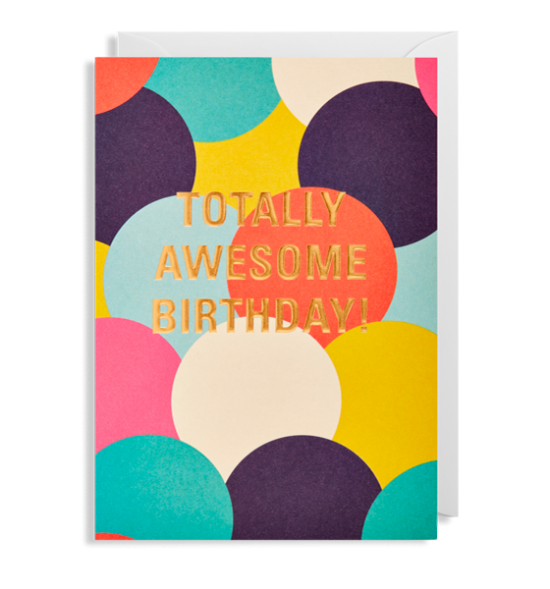 funky quirky unusual modern cool card cards greetings greeting original classic wacky contemporary art illustration fun postco totally awesome birthday Lagom colourful spots