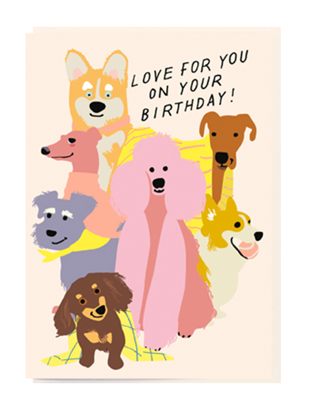 Birthday funky quirky unusual modern cool card cards greetings greeting original classic wacky contemporary art illustration fun vintage retro love noi dogs cartoon birthday