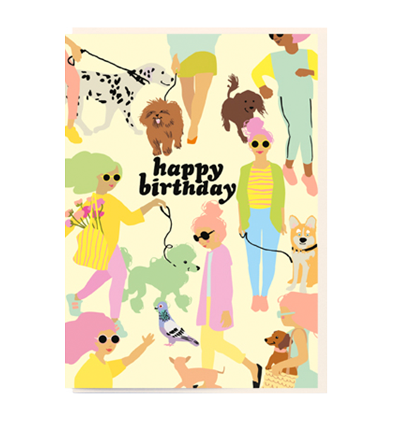 Happy Birthday Dog Walking Malarkey Cards