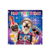 Birthday funky quirky unusual modern cool card cards greetings greeting original classic wacky contemporary art illustration fun vintage retro fluff googly eyes googlies tracks dogs selfie phone