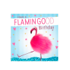 Birthday funky quirky unusual modern cool card cards greetings greeting original classic wacky contemporary art illustration fun vintage retro fluff googly eyes googlies tracks flamingo flamingood