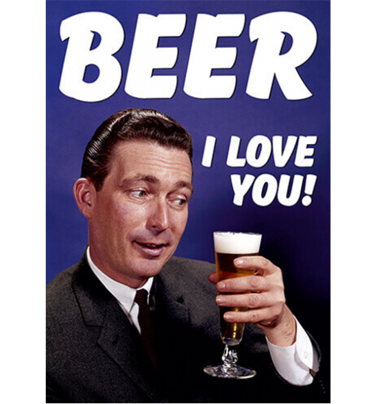 funky quirky unusual modern cool card cards greetings greeting original classic wacky contemporary art photographic fun vintage retro beer love retro funny dean-morris