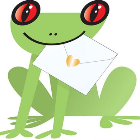 funky quirky unusual modern cool card cards greetings greeting original classic wacky contemporary art photographic fun vintage retro paddy 3D frog special-delivery cut-out