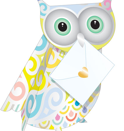 3D cut-out owl special-delivery opal funky quirky unusual modern cool card cards greetings greeting original classic wacky contemporary art photographic fun vintage retro