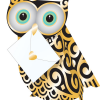 funky quirky unusual modern cool card cards greetings greeting original classic wacky contemporary art photographic fun vintage retro 3D cut-out special-delivery owl quill