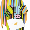 funky quirky unusual modern cool card cards greetings greeting original classic wacky contemporary art photographic fun vintage retro rollo 3D cut-out special-delivery pig