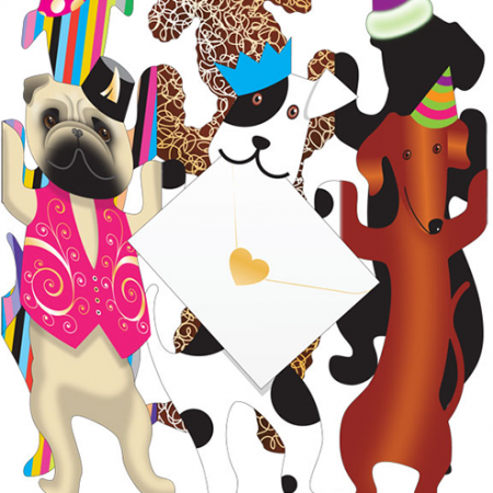 funky quirky unusual modern cool card cards greetings greeting original classic wacky contemporary art photographic fun vintage retro party-dogs 3D cut-out dog special-delivery