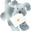 funky quirky unusual modern cool card cards greetings greeting original classic wacky contemporary art photographic fun vintage retro teddy 3D cut-out dog special-delivery