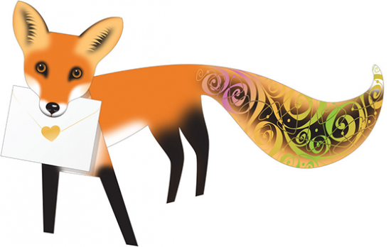 funky quirky unusual modern cool card cards greetings greeting original classic wacky contemporary art photographic fun vintage retro 3D cut-out fox special-delivery