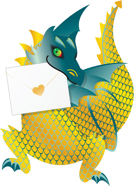 funky quirky unusual modern cool card cards greetings greeting original classic wacky contemporary art photographic fun vintage retro ember 3D dragon cut-out special-delivery