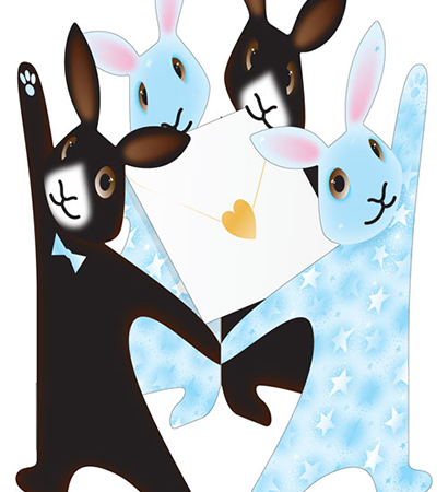 funky quirky unusual modern cool card cards greetings greeting original classic wacky contemporary art photographic fun vintage retro 3D rabbits cut-out special-delivery