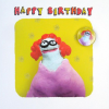 funky quirky unusual modern cool card cards greetings greeting original classic wacky contemporary art illustration fun Lucy-mason birthday lady glasses ginger artist cute funny badge
