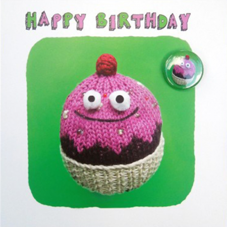 Lucy-mason birthday bun cake badge funny funky quirky unusual modern cool card cards greetings greeting original classic wacky contemporary art illustration fun cute