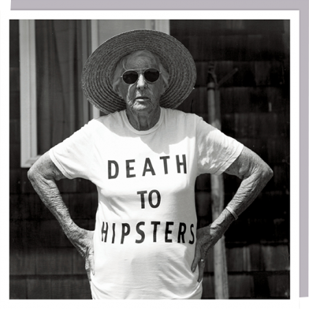 1000-words hipsters OAP pensioner photographic funky quirky unusual modern cool card cards greetings greeting original classic wacky contemporary art humorous slogan U-Studio