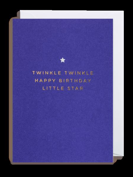 star twinkle Lagom happy birthday funky quirky unusual modern cool card cards greetings greeting original classic wacky contemporary art illustration fun postco