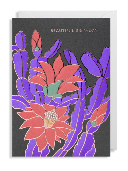 beautiful birthday flower Lagom hanna-werning funky quirky unusual modern cool card cards greetings greeting original classic wacky contemporary art illustration fun