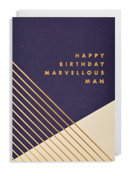 funky quirky unusual modern cool card cards greetings greeting original classic wacky contemporary art illustration fun postco marvellous man birthday Lagom