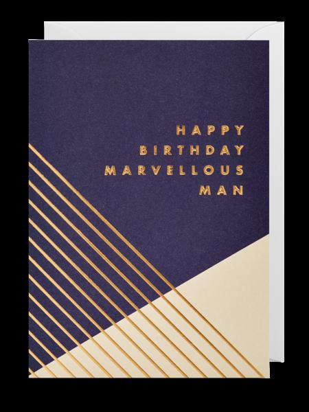 funky quirky unusual modern cool card cards greetings greeting original classic wacky contemporary art illustration fun postco marvellous man birthday Lagom