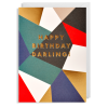 darling happy birthday Lagom postco funky quirky unusual modern cool card cards greetings greeting original classic wacky contemporary art illustration fun