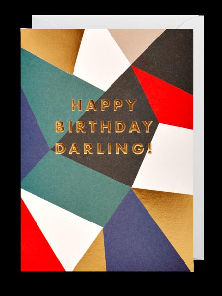darling happy birthday Lagom postco funky quirky unusual modern cool card cards greetings greeting original classic wacky contemporary art illustration fun