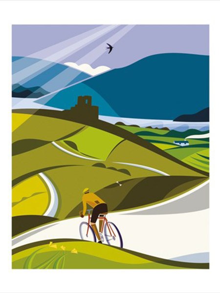 Wales bicycle Andrew-pavitt Art-Angels lost lanes funky quirky unusual modern cool card cards greetings greeting original classic wacky contemporary art illustration fun vintage retro