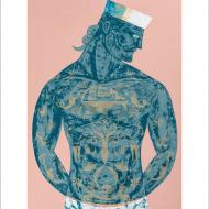 funky quirky unusual modern cool card cards greetings greeting original classic wacky contemporary art illustration fun vintage retro sailor scrimshaw sam silkscreen print sailor Art-Angels Sarah young
