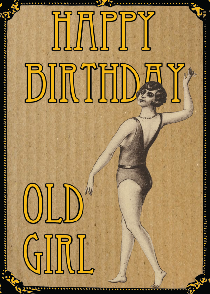 vintage retro girl birthday woman Malarkey-Cards