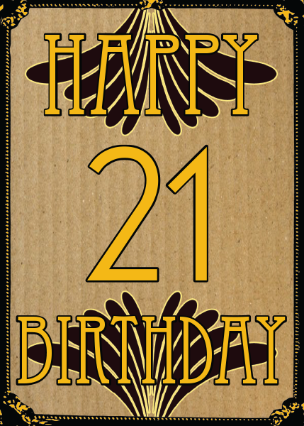 retro vintage birthday 21 Malarkey-Cards