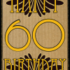 vintage retro 60 60th sixty sixtieth birthday Malarkey-Cards Birthday funky quirky unusual modern cool card cards greetings greeting original classic wacky contemporary art illustration fun vintage retro malarkey Brighton