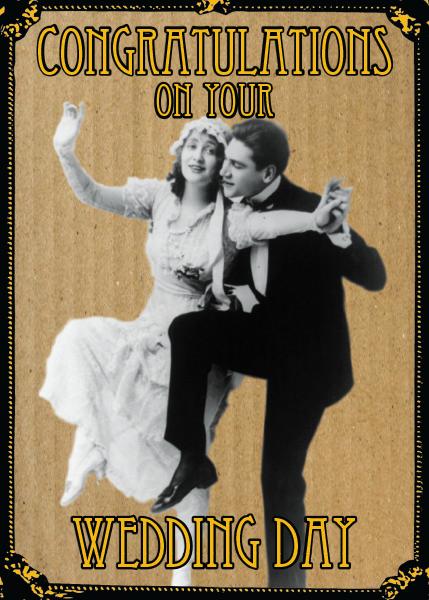 funky quirky unusual modern cool card cards greetings greeting original classic wacky contemporary art illustration fun vintage retro malarkey Brighton wedding Malarkey-Cards
