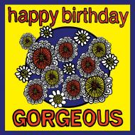 Birthday funky quirky unusual modern cool card cards greetings greeting original classic wacky contemporary art illustration fun vintage retro malarkey Brighton happy gorgeous malarkey-cards flowers