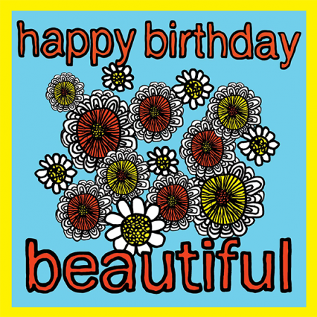 flowers beautiful Birthday funky quirky unusual modern cool card cards greetings greeting original classic wacky contemporary art illustration fun vintage retro malarkey Brighton Malarkey-Cards