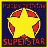 star superstar Birthday funky quirky unusual modern cool card cards greetings greeting original classic wacky contemporary art illustration fun vintage retro malarkey Brighton Malarkey-Cards