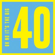 40th fortieth 40 forty Birthday funky quirky unusual modern cool card cards greetings greeting original classic wacky contemporary art illustration fun vintage retro malarkey Brighton birthday funny Malarkey-Cards
