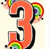 Birthday funky quirky unusual modern cool card cards greetings greeting original classic wacky contemporary art illustration fun vintage retro third 3rd rainbow snail 3 three age kids birthday noi