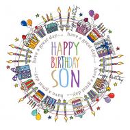 happy birthday son Two-Little-Monkeys colourful