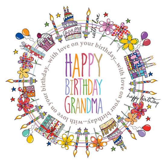 grandma birthday colourful Two-Little-Monkeys