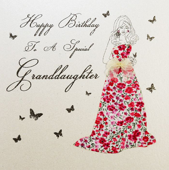 Granddaughter Birthday Woman Special Five Dollar Shake Liberty Print Hand Finished Funky