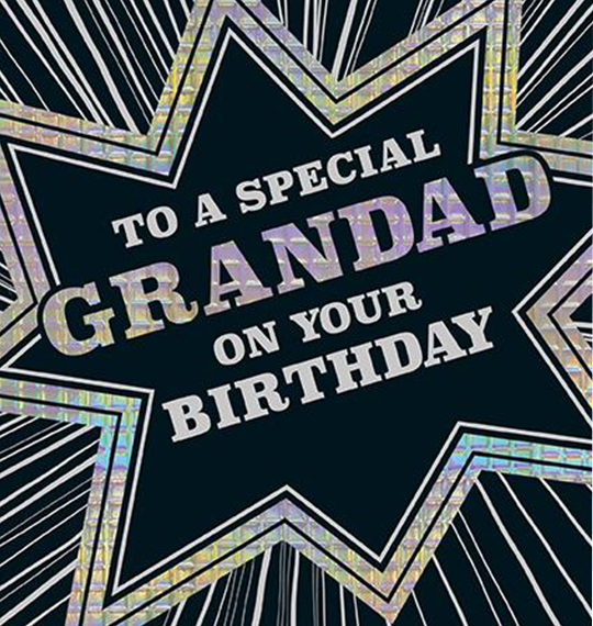grandad special birthday the-art-group unky quirky unusual modern cool card cards greetings greeting original classic wacky contemporary art illustration photographic grandfather