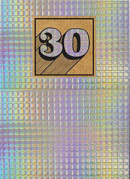 30 30th thirty thirtieth birthday shiny tiled the-art-group funky quirky unusual modern cool card cards greetings greeting original classic wacky contemporary art illustration photographic