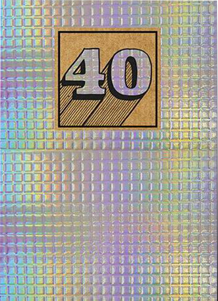 40 40th fortieth forty birthday shiny tiled the-art-group