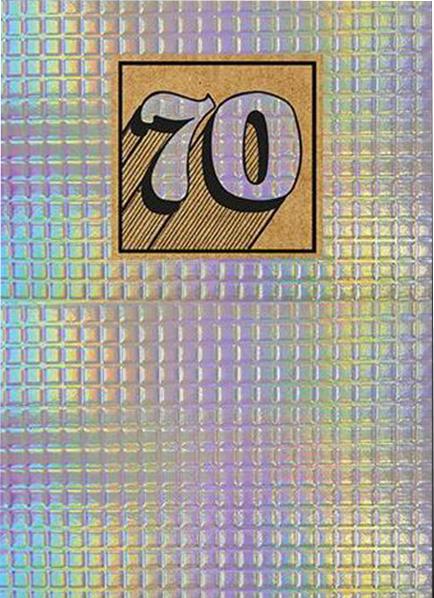 shiny foiled the-art-group birthday 70 70th seventieth seventy