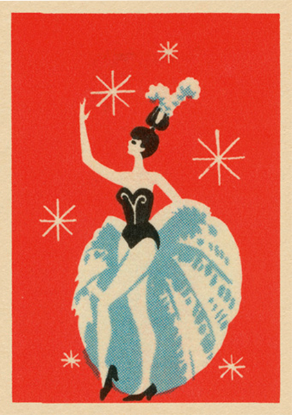 funky quirky unusual modern cool card cards greetings greeting original classic wacky contemporary art illustration fun vintage retro art-presss vintage matchbox jane mcdevitt performer